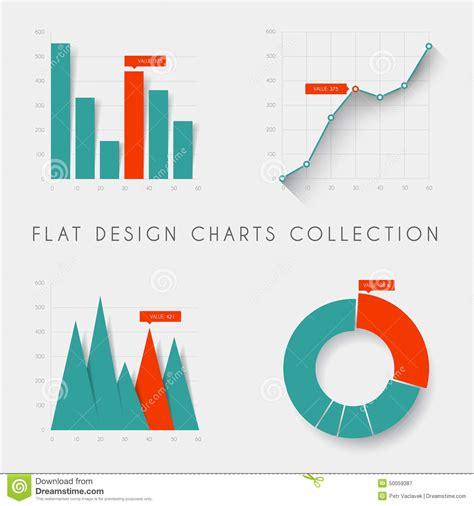 graph layout vector set of vector flat design statistics charts and graphs