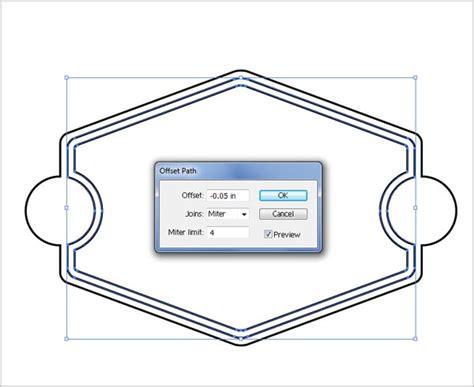illustrator tutorial offset path learn how to design premium vintage badge in illustrator