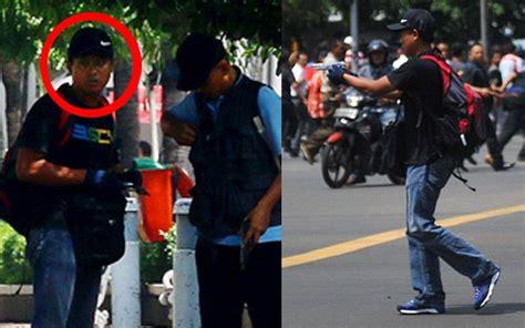 detiknews bom di thamrin ini foto terduga pelaku penembakan di sarinah okezone news