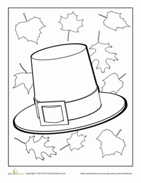 coloring page pilgrim hat girl pilgrim hat coloring page coloring pages