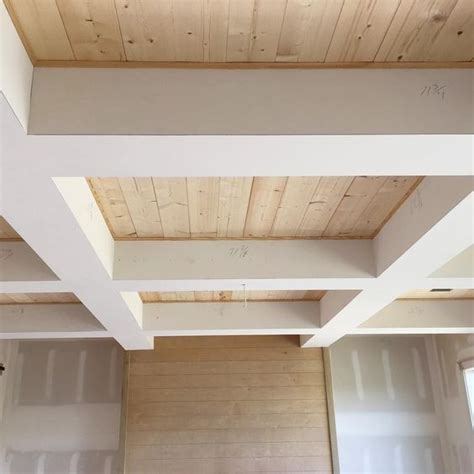 simple coffered ceiling check out the wood in our coffered ceiling simple pine