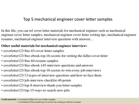 cover letter for mechanical design engineer top 5 mechanical engineer cover letter sles