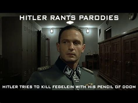 Fegelein Meme - hitler tries to kill fegelein with his pencil of doom