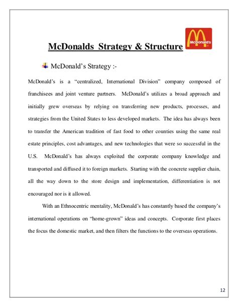 Stax Consulting Mba Internship by Mc Donald S Summer Internship Pune