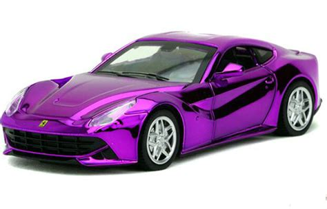 purple ferrari f12 golden purple silver blue 1 32 kids diecast ferrari f12