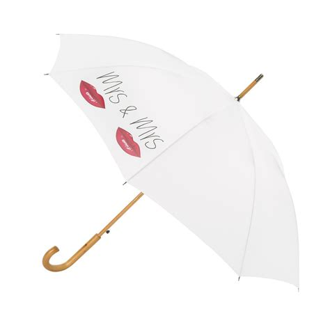 Wedding Umbrellas by Mrs Mrs Wedding Umbrella White Exclusive From The