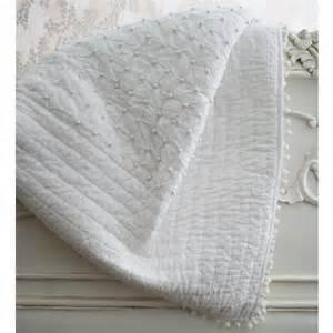Duvet Coverlets Pom Pom White Blanket Throw Bedspread French Bedroom Company