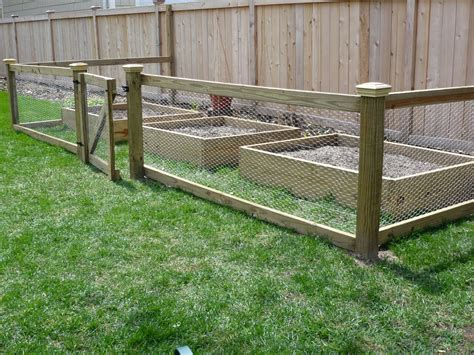 Simple Garden Fence Ideas Chicken Wire Fence On