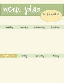 free menu templates printable weekly menu plan printable free new calendar template site