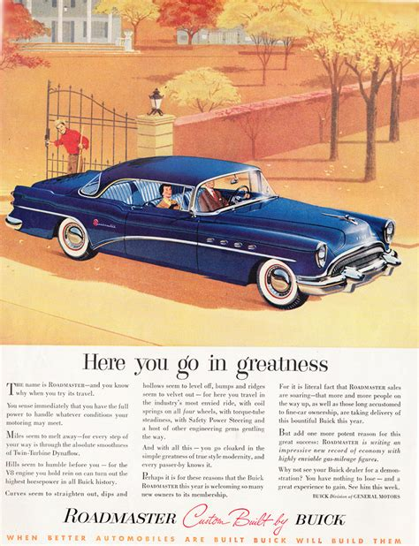 buick advertising 1954 buick roadmaster advertisement classic cars today