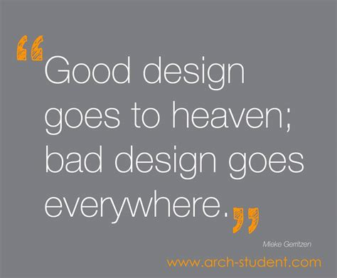 design cover quote good design goes to heaven bad design goes everywhere