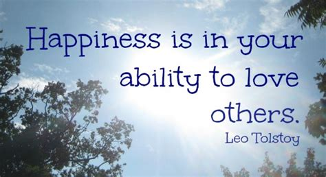 happiness is in your ability to others