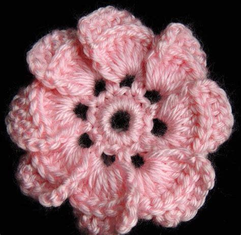 flores de crochet crochet flor de 8 petalos youtube