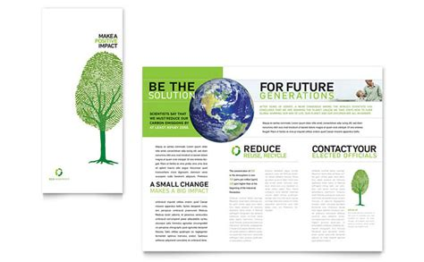 environment template environmental non profit tri fold brochure template design
