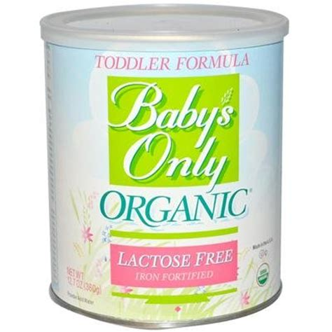 lactose free baby baby s only organic lactose free toddler formula 6x12 7oz