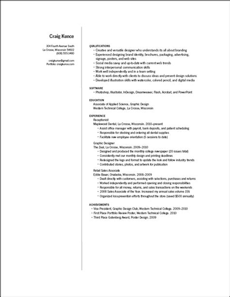 Resume Format Pdf For Graphic Designer Graphic Designer Resume Sle Pdf Images