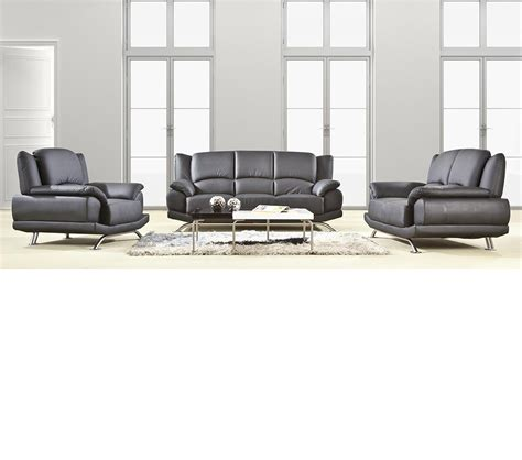 black sofa set dreamfurniture divani casa 2818 modern black sofa set