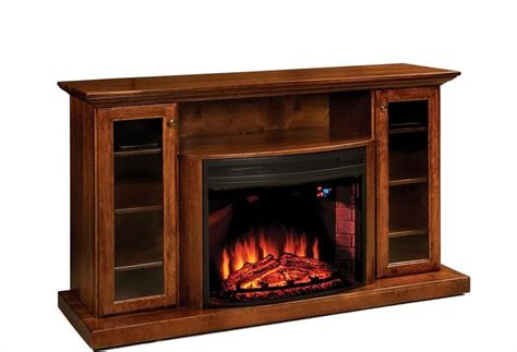 Amish Built Electric Fireplace by Amish 64 Quot Electric Fireplace Entertainment Center