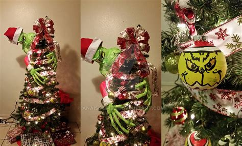 grinch themed christmas tree by anaisgomez on deviantart