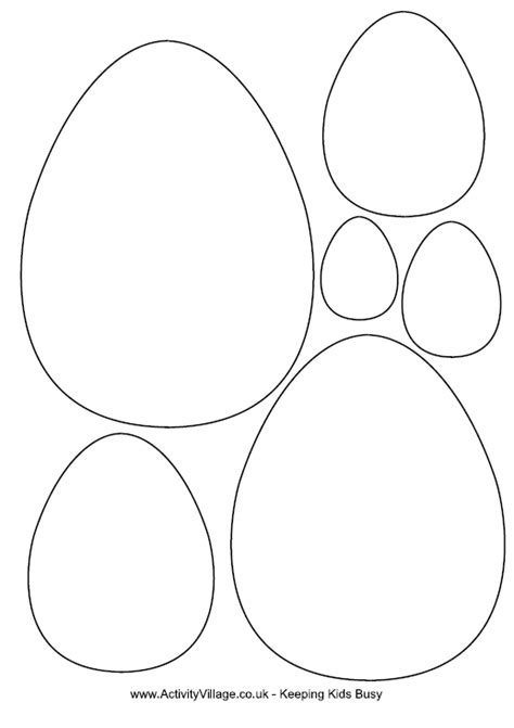 printable eggs templates free easter egg template easter templates pinterest