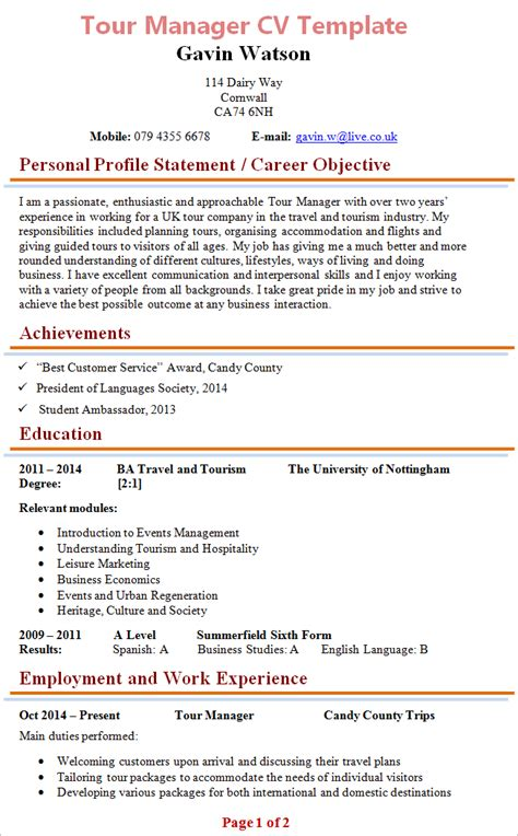 Tour Manager Resume by Tour Manager Resume Resume Ideas