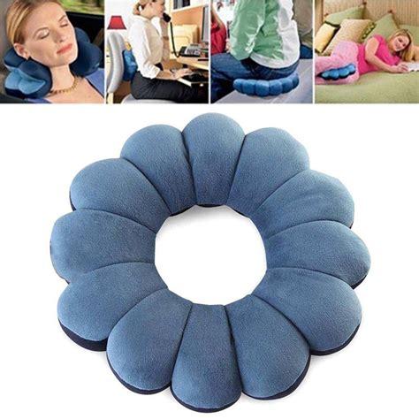 Comfort Total Twist Bantal Leher Travel blue comfort total pillow travel pillow twist neck back cushion s