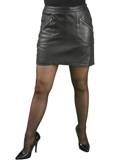 black leather mini skirt zip pockets tout ensemble