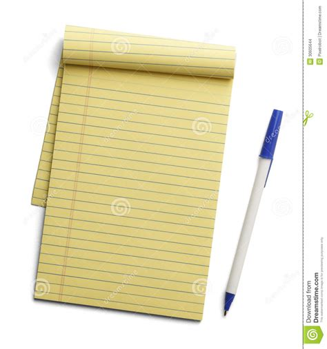 How To Make Pads Of Paper - yellow paper pad and pen stock photo image of objects