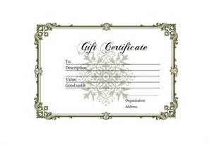 Blank Gift Certificate Templates by 12 Blank Gift Certificate Templates Free Sle