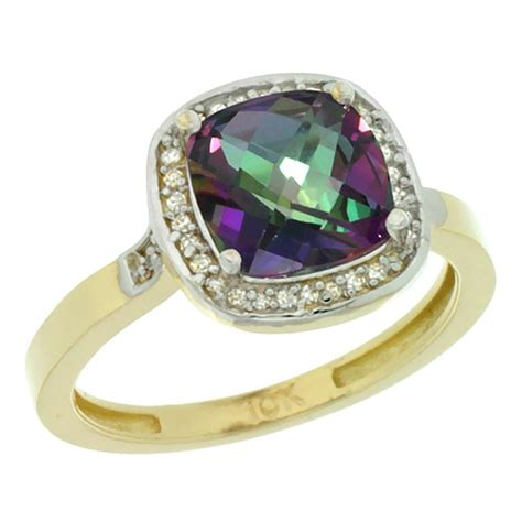 3 94 ctw mystic topaz engagement ring