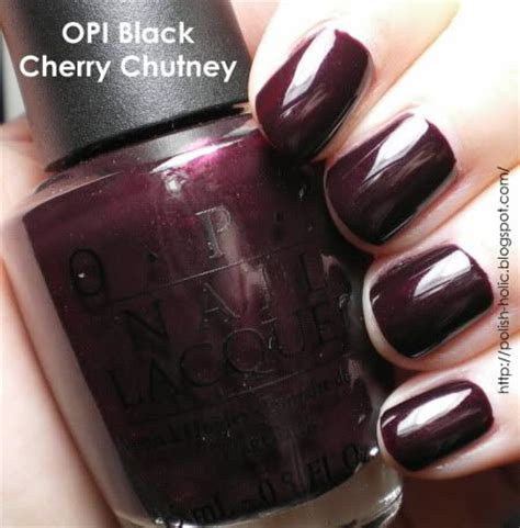25 best ideas about opi black cherry chutney on nail fall nail