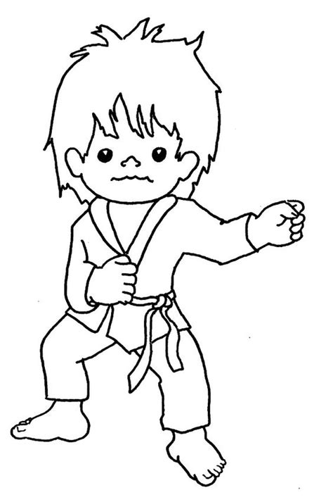 Taekwondo Coloring Pages Coloring Home Coloring For