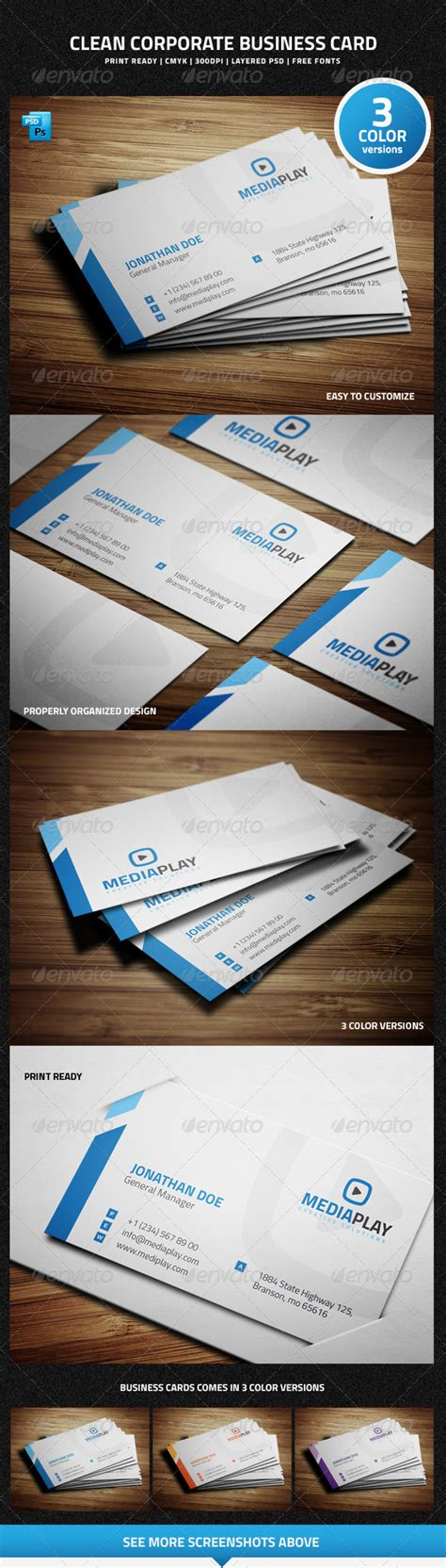 graphicriver corporate business card 6827858 graphicriver clean corporate business card 6767544