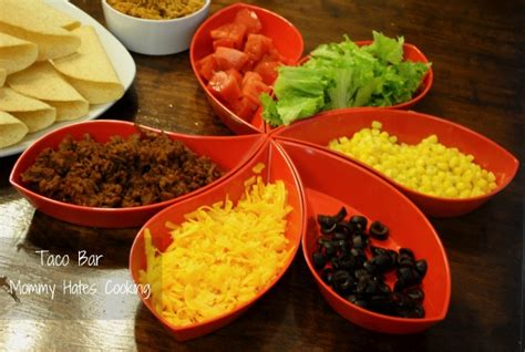 Taco Bar Toppings by Easy Taco Bar Hates Cooking