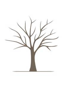 Fingerprint Guestbook Tree Template by Free Printable Fingerprint Tree Template Breeds Picture