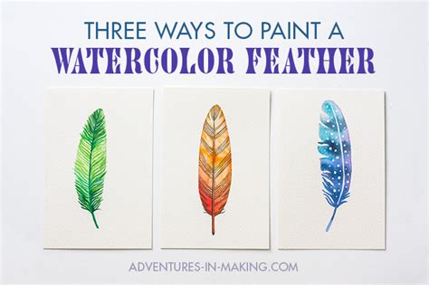 what can you paint at painting with a twist diy three ways to paint a watercolor feather for beginners
