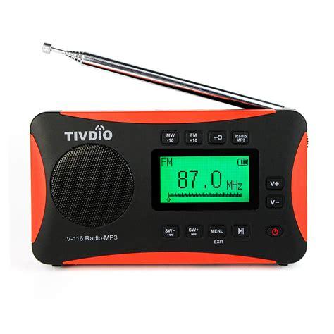 tivdio portable radio fm mw sw world receiver mp3 player sleep timer alarm clock ebay