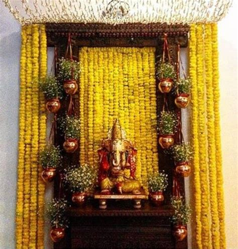 decoration for puja at home 124 best images about ganapati bappa on pinterest
