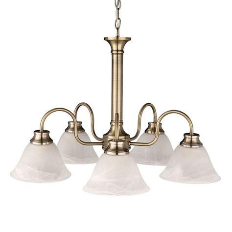 Glass Ceiling Lights Classic 5 Arm Antique Bronze Glass Ceiling Light