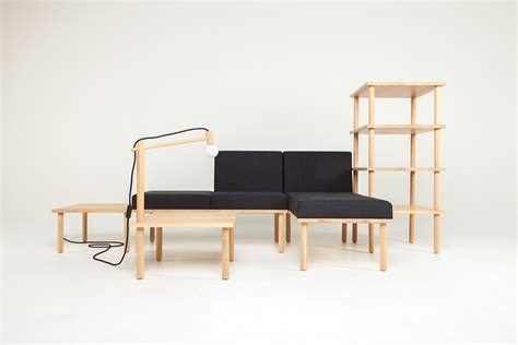 Modular Furniture Systems by Modular Minimalism 5 Part Kit To Create Infinite