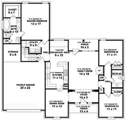 5 bedroom 3 bath floor plans 653805 1 5 story 3 bedroom 2 bath style house plan house plans floor plans home