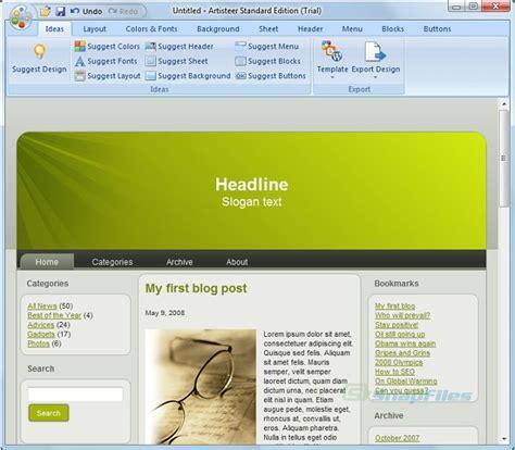 wordpress theme generator artisteer artisteer web designer screenshot and download at