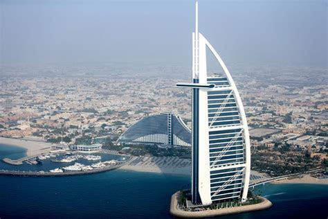 al burj aerial view of the burj al arab