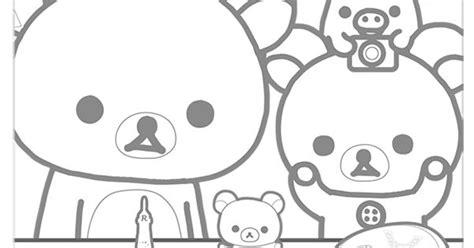rilakkuma coloring pages kawaii crafty kawaii