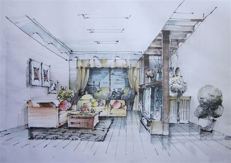 hand painted house interior design download 3d house hand painted living room decoration sketch 3d house