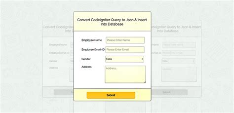 codeigniter simple query codeigniter convert query to json insert into database