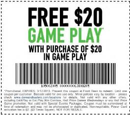 Coupon dave busters printable coupons 2014 dave and buster s free