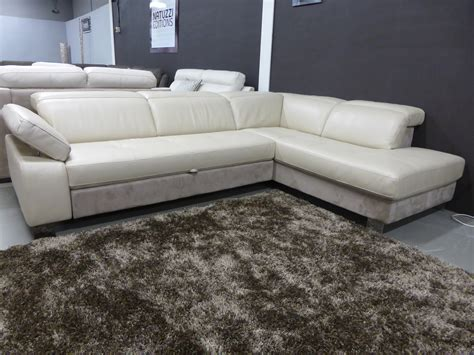 Natuzzi Leather Sofa Bed Natuzzi Editions Sle Corner Sofa Bed Leather Fabric Furnimax Brands Outlet