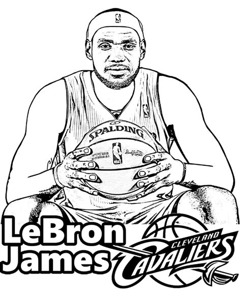 free printable coloring pages nba players lebron james coloring page picture sheet to print nba