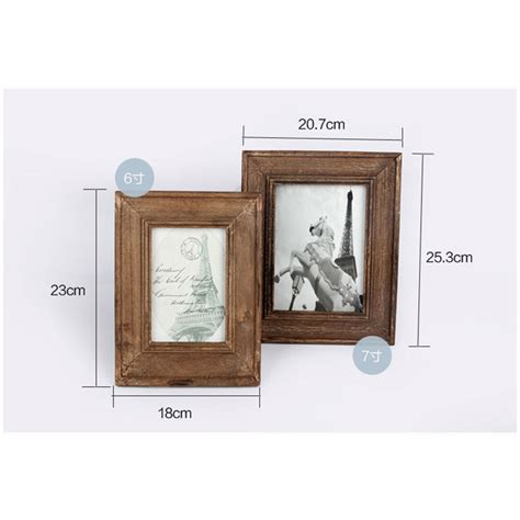 Frame Foto Wooden1 Landscape And 2 Potrait Frame Foto Kayu Frame 6 7 inch retro wood photo frame zakka vintage wooden picture frames home decorations in